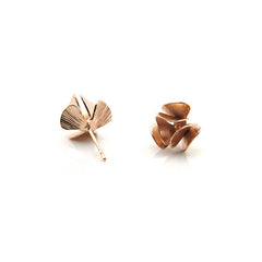 Orbicular Rose Gold Studs