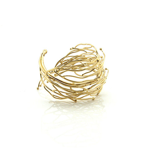 Big Nest Gold Bangle