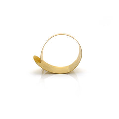 Fish Collar Thick Gold Sterling Silver Bangle