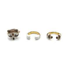 Raccoon 3 Pieces Set Ring