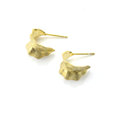 Cured Seaweed Gold Sterling Silver Studs