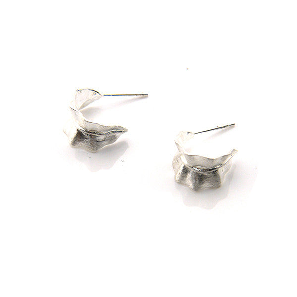 Cured Seaweed Sterling Silver Studs