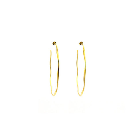 Large Hoop Gold Earrings