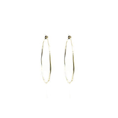 Large Hoop Sterling Silver Earrings