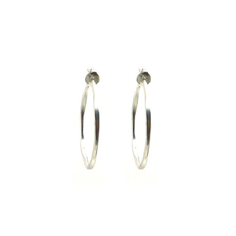 Small Hoop Sterling Silver Earrings