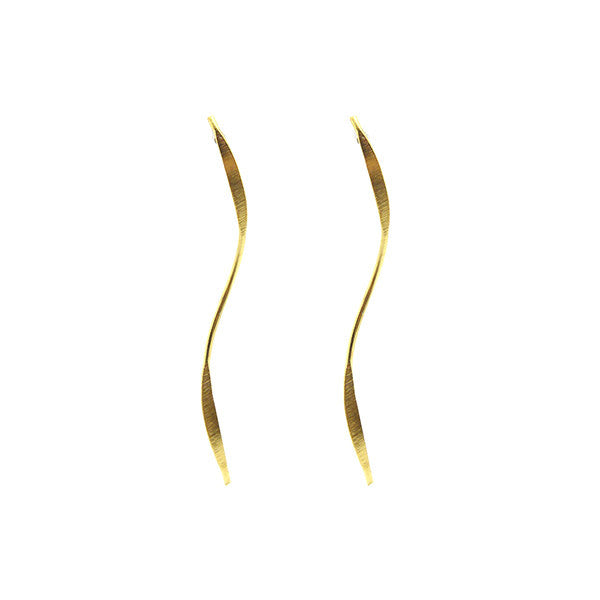 Wave Gold Sterling Silver Earrings