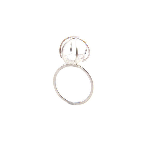 Carriage Sterling Silver Adjustable Ring