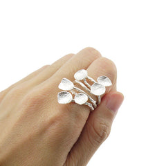 Lots of Floating Leave Sterling Silver Ring