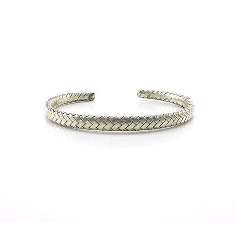 The Woven Sterling Silver Bangle