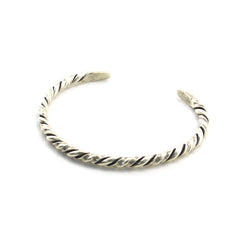 The Skew Sterling Silver Bangle
