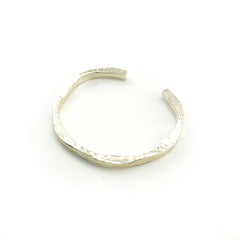Wave Hammered Sterling Silver Bangle
