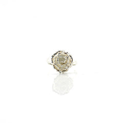 Small Roses Sterling Silver Adjustable Ring
