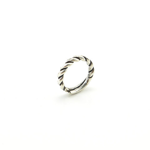 Basic Twist Sterling Silver Adjustable Ring