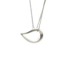Water Droplet Silver Short Necklace