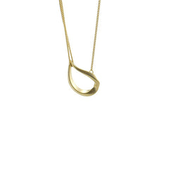 Water Droplet Gold Short Necklace