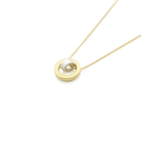 Circle in Circle Gold Short Necklace