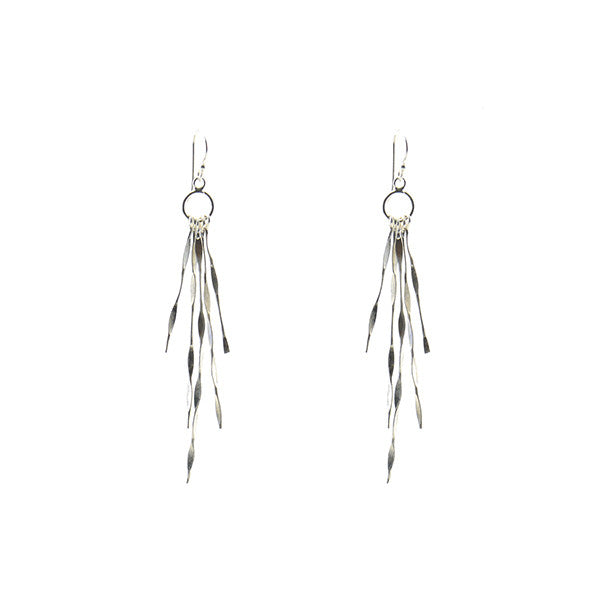 Seaweed Dangle Sterling Silver Earrings