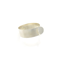 Fish Collar Narrow Sterling Silver Bangle