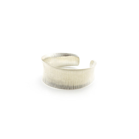Straightline Thick Sterling Silver Bangle