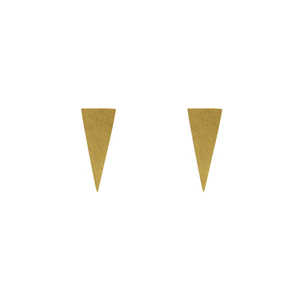 Triangle Gold Sterling Silver Studs