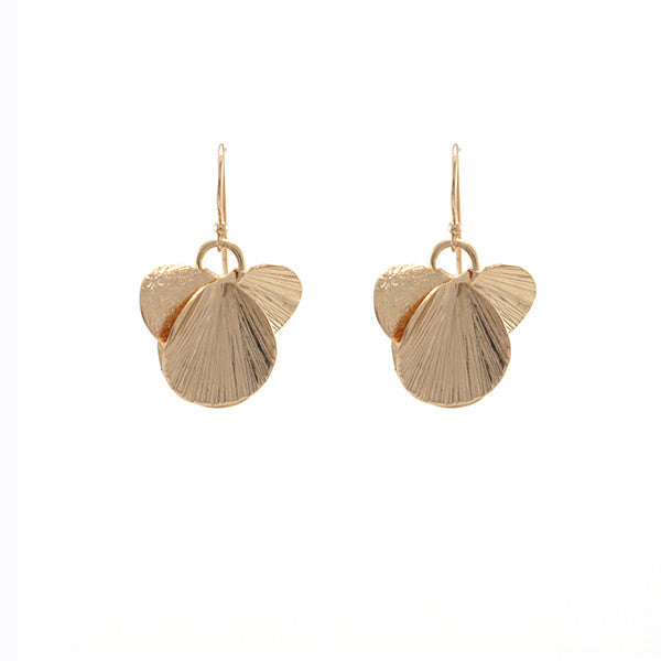 Orbicular Rose Gold Earrings