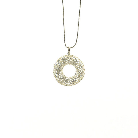 Donut Sterling Silver Long Necklace