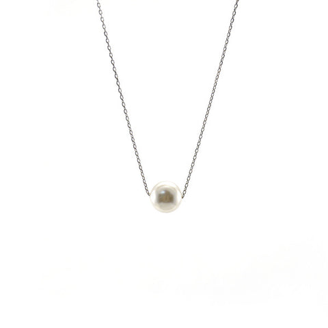 Big Pearls Sterling Silver Short Necklace