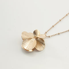 Orbicular Rose Gold Long Necklace