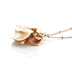 Orbicular Rose Gold Medium Necklace
