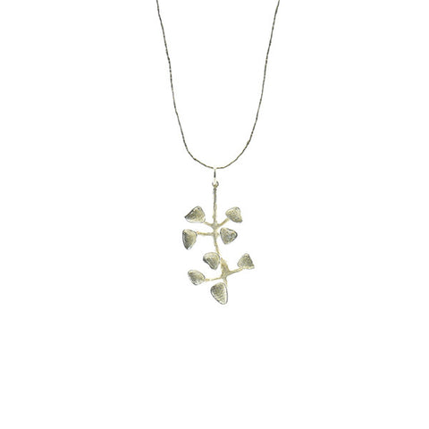 Orbiculatus Branch Sterling Silver Long Necklace