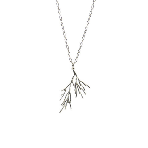 Branch Tree Sterling Silver Long Necklace