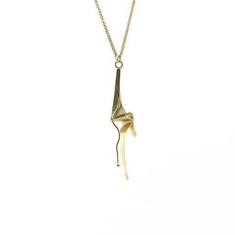 Chair Gold Long Necklace