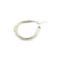 Layers of Line Sterling Silver Bracelet