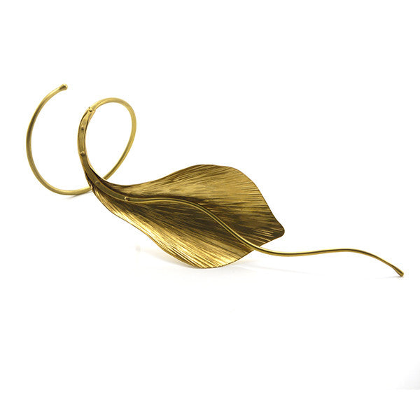 Snake Leaf Gold Bangle