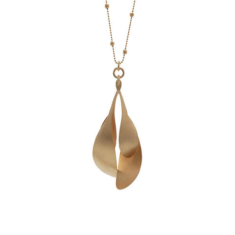 Spatulate Quartet Rose Gold Long Necklace
