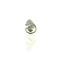 Gingko Duo Sterling Silver Ring