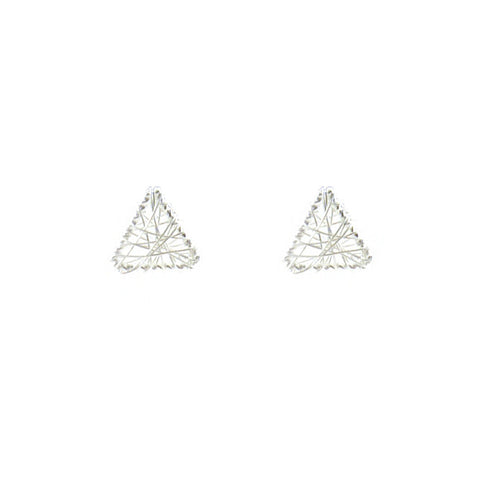 Yarn Triangle Sterling Silver Studs