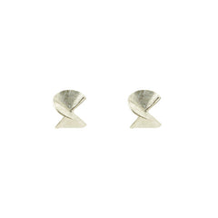 Twisted Drum Sterling Silver Studs