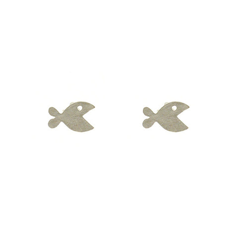 Mini Fish Sterling Silver Studs
