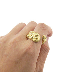 Octopus Gold Sterling Silver Adjustable Ring
