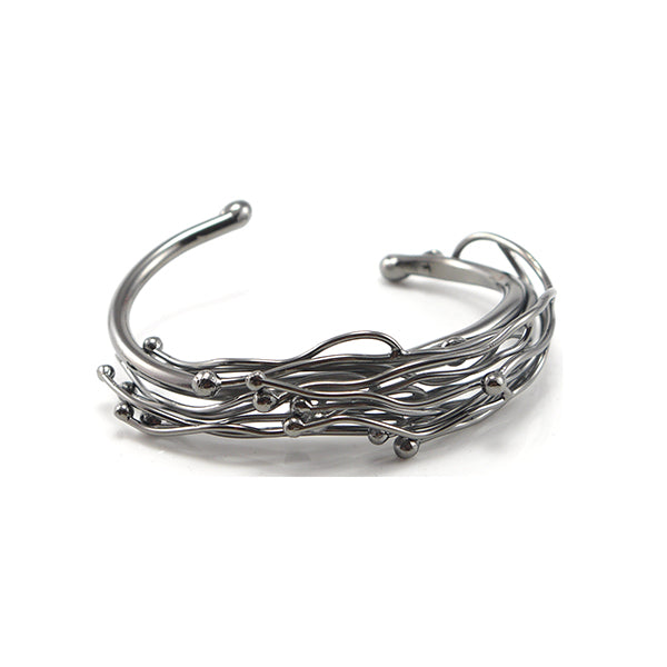 Narrow Nest Black Bangle