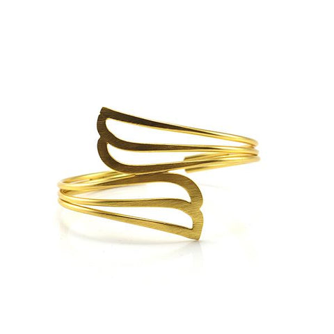 Duo Tail Gold Sterling Silver Bangle
