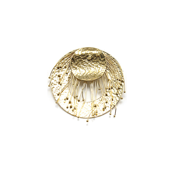 Round Badge Gold Brooch