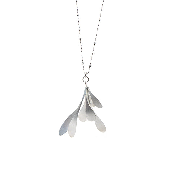 Spatulate Octave Silver Long Necklace