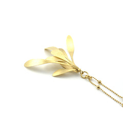 Spatulate Octave Gold Long Necklace