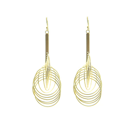 Big Whisker Gold Sterling Silver Earrings