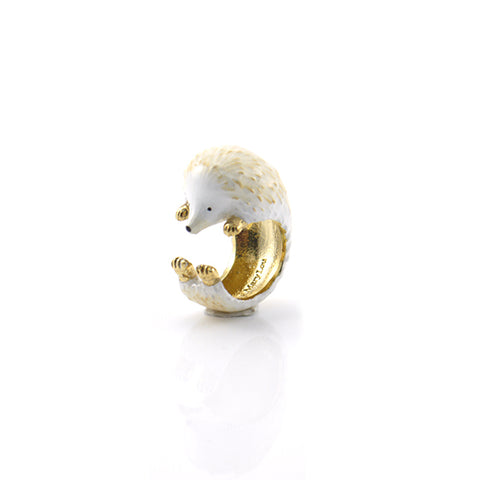 Single Hedgehog Light Brown Ring