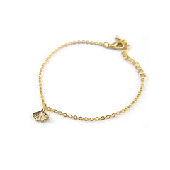 Mini Gingko Leaf Gold Bracelet