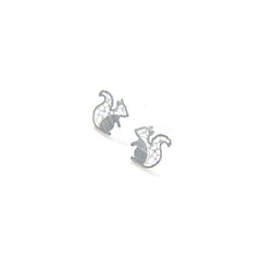Mini Squirrel Silver Studs