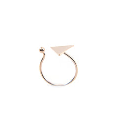 Solid Triangle & Mini Ball Rose Gold Ring